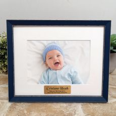 Personalised  Baby Photo Frame Amalfi Navy 5x7