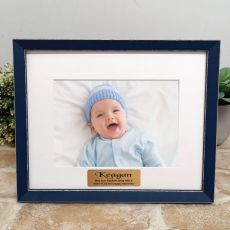Personalised  Baptism Photo Frame Amalfi Navy 5x7