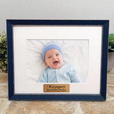 Personalised  Baptism Photo Frame Amalfi Navy 5x7