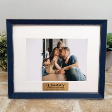 Personalised Dad Photo Frame Amalfi Navy 5x7