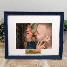 Personalised Engagement Photo Frame Amalfi Navy 5x7