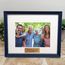 Personalised Nana Photo Frame Amalfi Navy 5x7