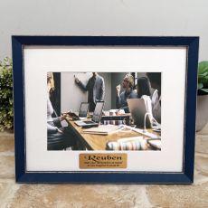 Personalised Retirement  Photo Frame Amalfi Navy 5x7