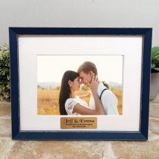 Personalised Wedding  Photo Frame Amalfi Navy 5x7