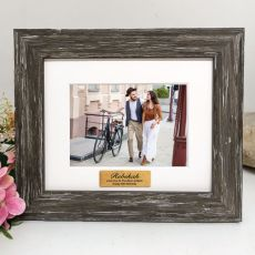 40th Personalised Photo Frame Hamptons Brown 4x6