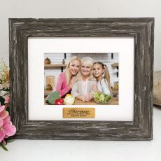 60th Personalised Photo Frame Hamptons Brown 4x6