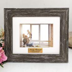 Aunty Personalised Photo Frame Hamptons Brown 4x6