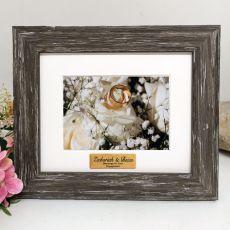 Engagement Personalised Photo Frame Hamptons Brown 4x6