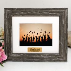 Graduation Personalised Photo Frame Hamptons Brown 4x6