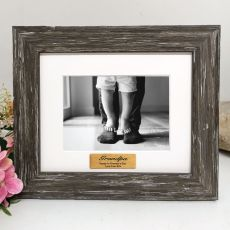 Grandpa Personalised Photo Frame Hamptons Brown 4x6
