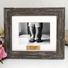 Grandpa Personalised Photo Frame Hamptons Brown 4x6