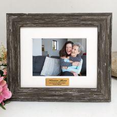 Memorial Personalised Photo Frame Hamptons Brown 4x6
