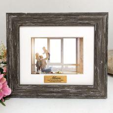 Mum Personalised Photo Frame Hamptons Brown 4x6