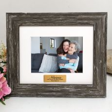 Nana Personalised Photo Frame Hamptons Brown 4x6