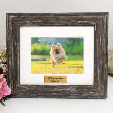 Pet Memorial Personalised Photo Frame Hamptons Brown 4x6