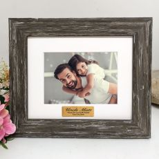 Uncle Personalised Photo Frame Hamptons Brown 4x6
