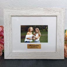 Personalised 16th Birthday Frame Hamptons White 4x6