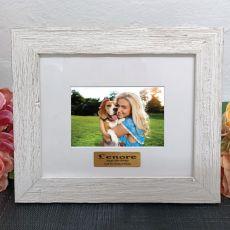 Personalised 18th Birthday Frame Hamptons White 4x6