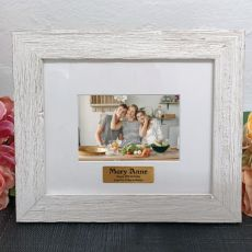 Personalised 40th Birthday Frame Hamptons White 4x6