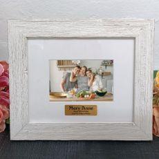 Personalised 40th Birthday Frame Hamptons White 4x6