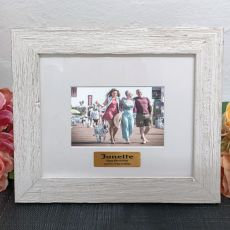 Personalised 80th Birthday Frame Hamptons White 4x6