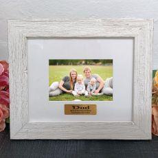 Personalised Dad Frame Hamptons White 4x6