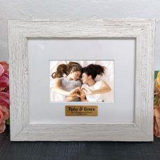 Personalised Engagement Frame Hamptons White 4x6