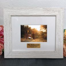 Personalised Godparents Frame Hamptons White 4x6