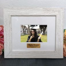 Personalised Graduation Frame Hamptons White 4x6