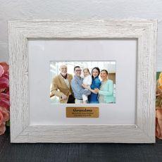 Personalised Grandma Frame Hamptons White 4x6