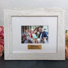 Personalised Grandpa Frame Hamptons White 4x6