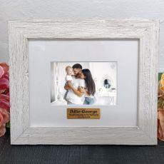 Personalised Naming Day Frame Hamptons White 4x6