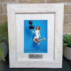 18th Birthday Personalised Frame Hamptons White 5x7