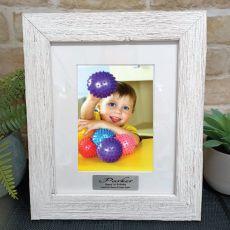 1st Birthday Personalised Frame Hamptons White 5x7