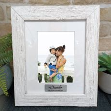 60th Birthday Personalised Frame Hamptons White 5x7