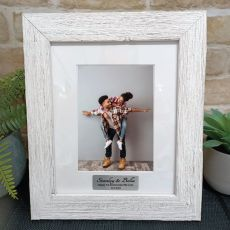 Anniversary Personalised Frame Hamptons White 5x7