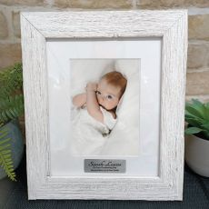 Christening Personalised Frame Hamptons White 5x7
