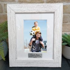 Coach Personalised Frame Hamptons White 5x7