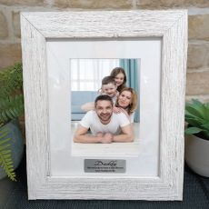 Dad Personalised Frame Hamptons White 5x7