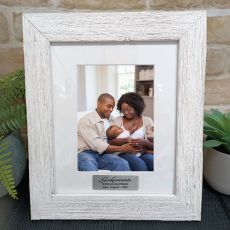 Godparents Personalised Frame Hamptons White 5x7