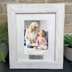 Grandma Personalised Frame Hamptons White 5x7