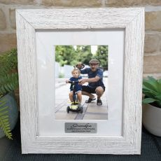 Grandpa Personalised Frame Hamptons White 5x7