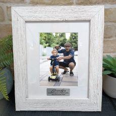 Grandpa Personalised Frame Hamptons White 5x7