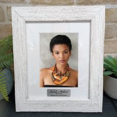 Personalised Frame Hamptons White 5x7