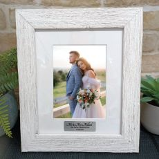 Wedding Personalised Frame Hamptons White 5x7