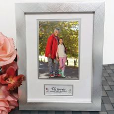 70th Birthday Photo Frame Silver Wood 4x6 Photo