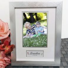 80th Birthday Photo Frame Silver Wood 4x6 Photo