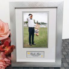 Birthday Photo Frame Silver Wood 4x6 Photo
