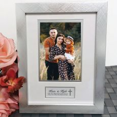 Godparent Photo Frame Silver Wood 4x6 Photo