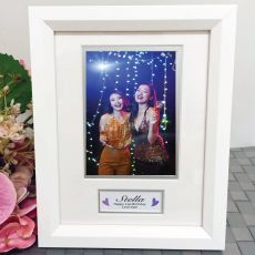 21st Birthday Photo Frame White Wood 4x6 Photo